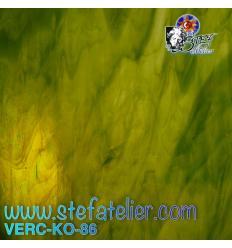 """Verre """"KO"""" vert if et opaline 26x27cm"""