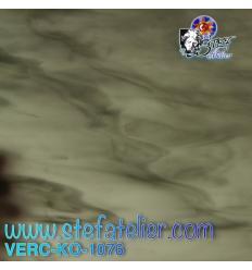 """Verre """"KO"""" gris moyen et clair opaline 27x27cm"""