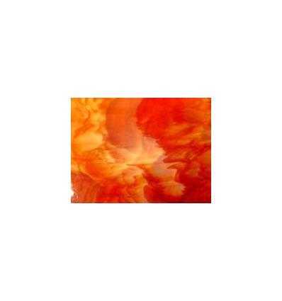 "Verre""KO"" rouge orange opaline 26x26cm"