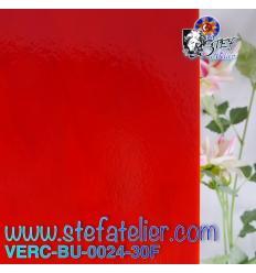 "verre ""BU"" rouge tomate 29x25cm"