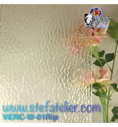 """Verre """"W"""" Rippel ou chenillé transparent 26x27cm"""