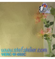 "Verre ""W"" Cathédrale corella jaune clair 26x27cm"