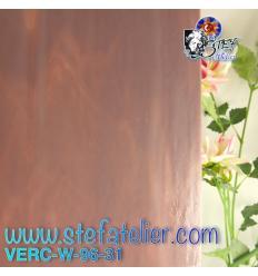 """Verre """"W"""" violine fusing S96 26x27cm"""