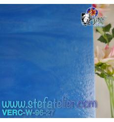 "Verre ""W"" bleu 27 fusing S96 26x27cm"