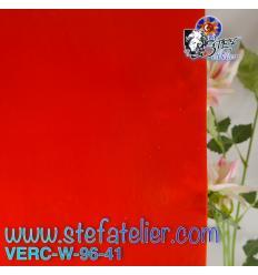 "Verre ""W"" rouge opaque fusing S96 27x26cm"