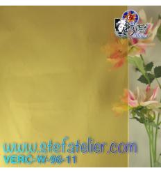 """Verre """"W"""" jaune clair ambre 26x27cm"""