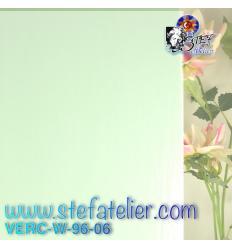 """Verre """"W"""" vert pale 06 opaque 26x27cm"""