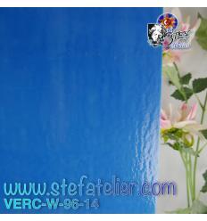 "Verre ""W"" bleu 14 fusing S96 26x27cm"