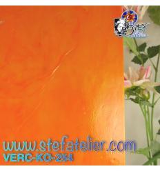 "Verre ""KO"" orange opaline 27x27cm"