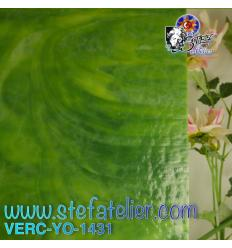 """Verre """"YO"""" vert et vert foncé 30x30cm"""