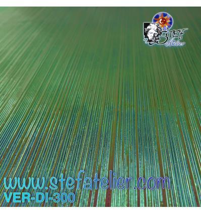 """Verre """"UR"""" dichroïque Strié rose vert et gris 10x10cm compatible Fusing Système 96"""