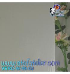 """Verre """"W"""" blanc opaline compatible fusing S96 26x26cm"""