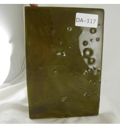 Dalle de verre de couleur d'occasion 20x29x2cm