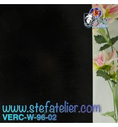 """Verre """"W"""" Noir Opaque compatible Fusing S96 26x27cm"""