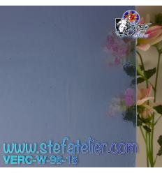 """Verre """"W"""" Bleu très clair transparent compatible Fusing S96 26x27cm"""