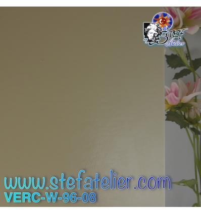 """Verre """"W"""" Ton Pierre et jaune en transparence, compatible Fusing S96 27x40cm"""
