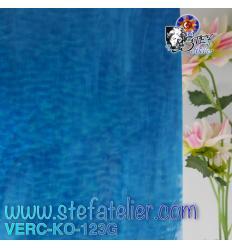 """Verre """"KO"""" Bleu lagon et opaline granité 27x27cm"""