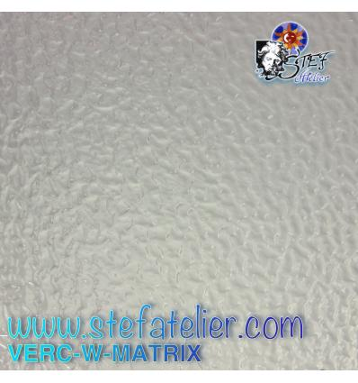 "Verre ""W"" MATRIX transparent 27x26cm"