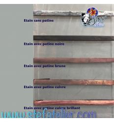 patine noire  pour le cuivre et le plomb 100ml