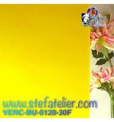 """Verre """"BU"""" jaune 29x25cm"""