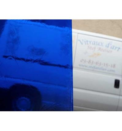 """verre """"S"""" Artique bleu nuit 30x30cm"""