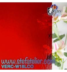 """Verre """"W"""" corella rouge 18L cathédrale 27x26cm"""