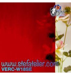 """Verre """"W"""" seville rouge 18 cathédrale 26x27cm"""