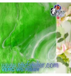 """Verre """"W"""" Mystic 708 WO vert et vert foncé et opaline environ 26x27cm"""