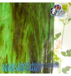 """Verre """"W"""" Mystic 704 WO vert et ambre environ 27x26cm"""