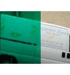 "Verre ""S"" Vert turquoise moyen compatible fusing S96 30x30cm"