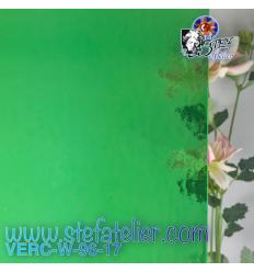 """Verre """"W"""" vert clair transparant fusing S96 27 x 26cm"""