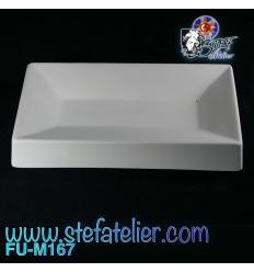 Moule fusing céramique petit plat à Sushi 24X13X2 cm
