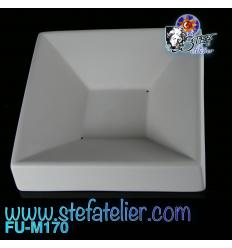 Moule fusing céramique petit bol carré PARTY 13X13Xh2.5 cm