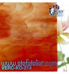 "Verre ""KO""rouge de rouille blanc 26x26cm"