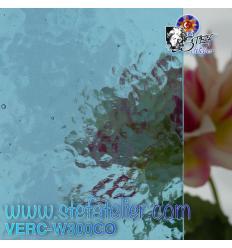 "Verre ""W"" Corella bleu ciel 300 Cathédrale 26 X 27 cm"