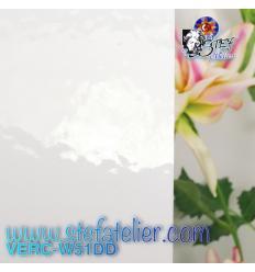 """Verre """"W"""" blanc uni DD 27x26 cm"""