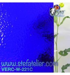 """Verre """"W"""" Cathédrale corella bleu cobalt foncé environ 26x27cm"""