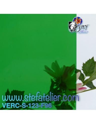 """Verre """"S"""" vert moyen COE96 30x30cm"""