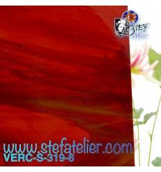 """Verre """"S"""" marron foncé blanc semi-transparent 30x30 cm"""