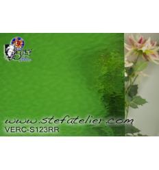 "Verre ""S"" Cathédrale  vert moyen  30x30cm"