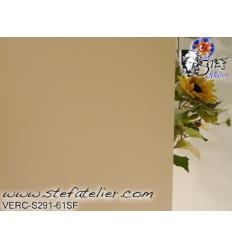 """verre """"S"""" creme peau opale semie transluscide 30x28cm compatible fusing S96"""
