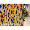 """Verre """"S"""" grain bleu jaune rouge sur opaline  compatible fusing S96 30x30cm"""