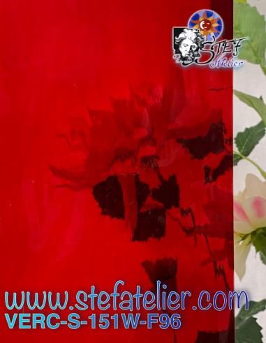 S Glass Watterglass light red COE96...