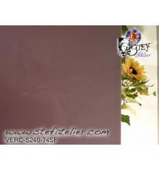 "verre ""S"" violet Prune opaque 30x28cm compatible fusing S96"