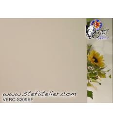 """verre """"S"""" blanc semi-translucide 30x28cm fusing S96"""