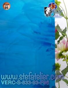 "verre ""S"" opaline et bleu..."