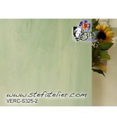 """verre """"S"""" vert menthe et opaline opaque 30x30cm"""