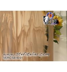 "verre ""S"" havanne (brun) et opaline semie translucide  30x30cm"