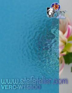 """Glass """"W"""" Corella158 blue..."""