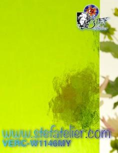 "Glass ""W"" Mystic green..."